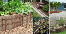 10 простых и декоративных идей для ограждений вашего сада
