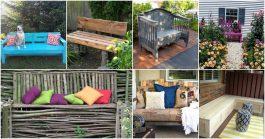 10 декоративных садовых скамеек своими руками