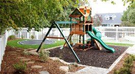Ландшафтный дизайн с учетом  детской площадки